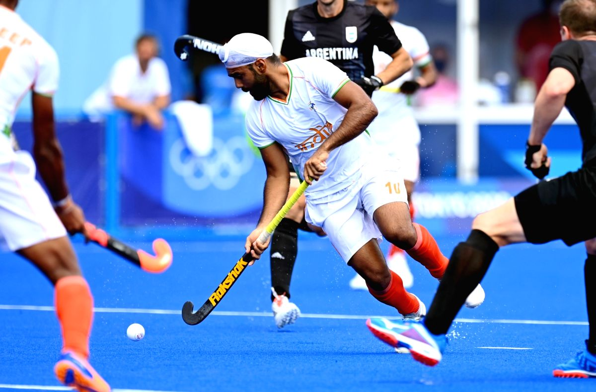 India defeat Argentina 3-1 in men's hockey Group A match.(photo:india hockey y twitter)
