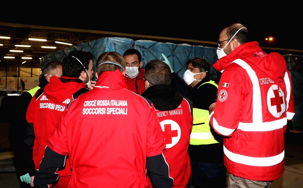 India's Elgi Equipments helped Italian Red Cross to meet Covid emergency. (Xinhua/Cheng Tingting/IANS)