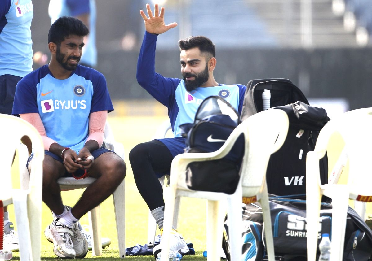 India's Jasprit Bumrah and Virat Kohli. (Photo: Surjeet Yadav/IANS)