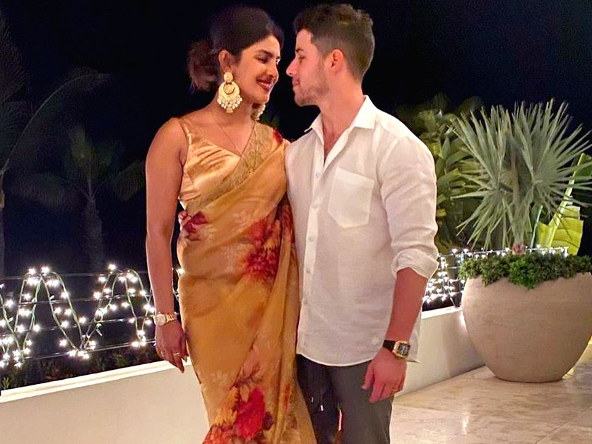 Indian actress Priyanka Chopra Jonas and American pop singer Nick Jonas