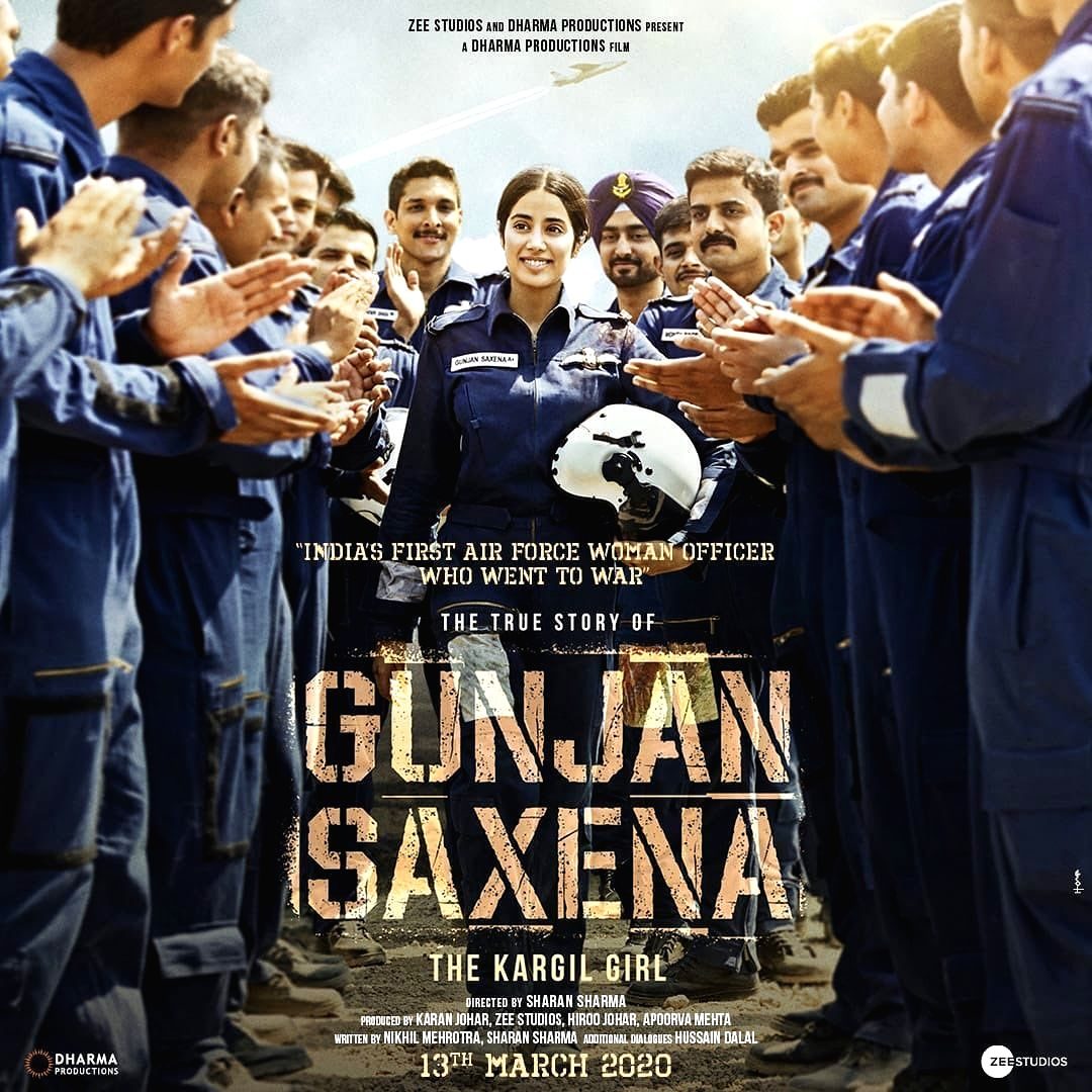"""Indian Air Force combat pilot Gunjan Saxena's upcoming biopic """"The Kargil Girl"""", starring Janhvi Kapoor in the titular role, will hit the screens on March 13 next year. Karan Johar, who produces the project, took to social media on Thursday and unveiled the official posters of the film."""