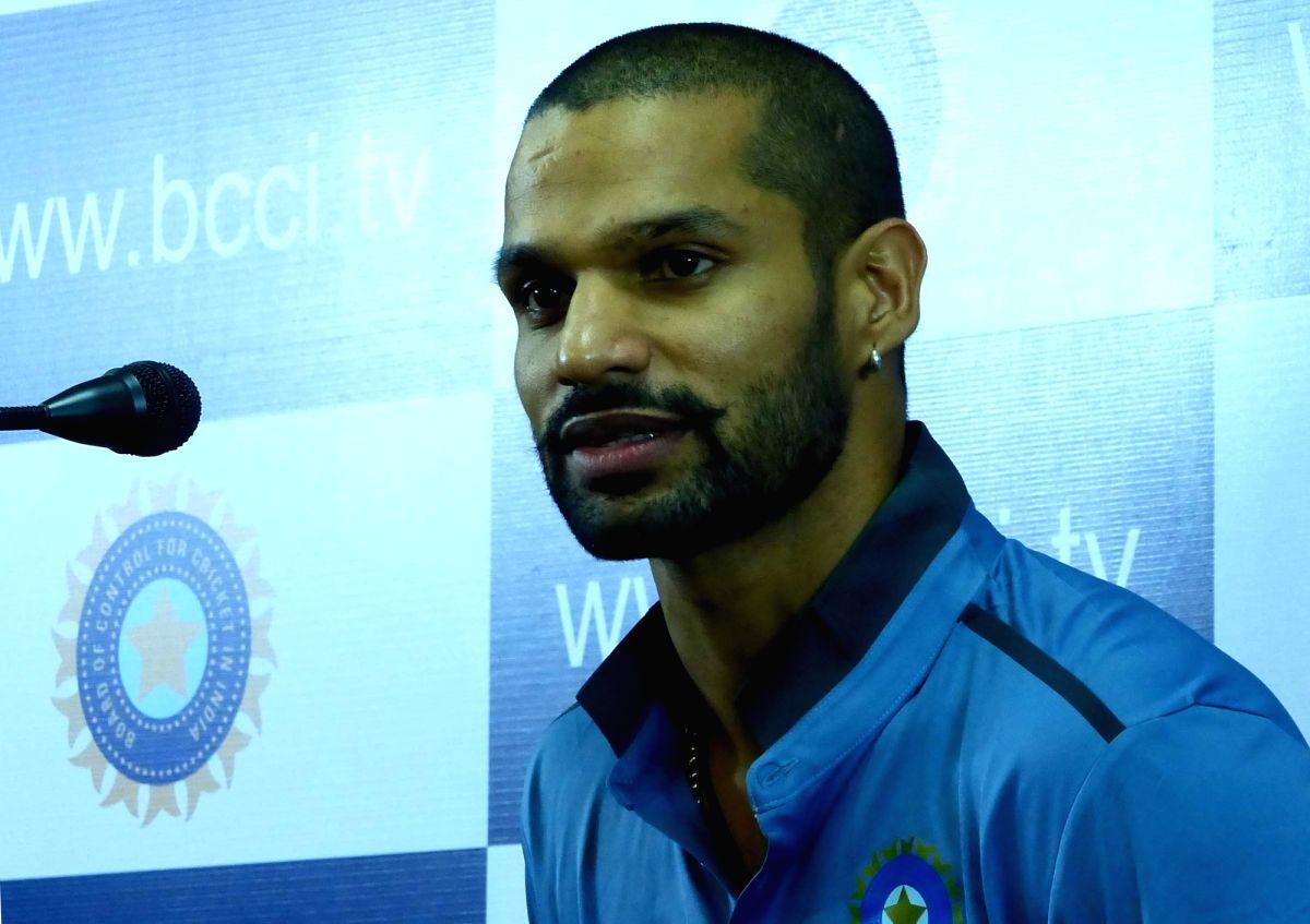 Indian cricketer Shikhar Dhawan.