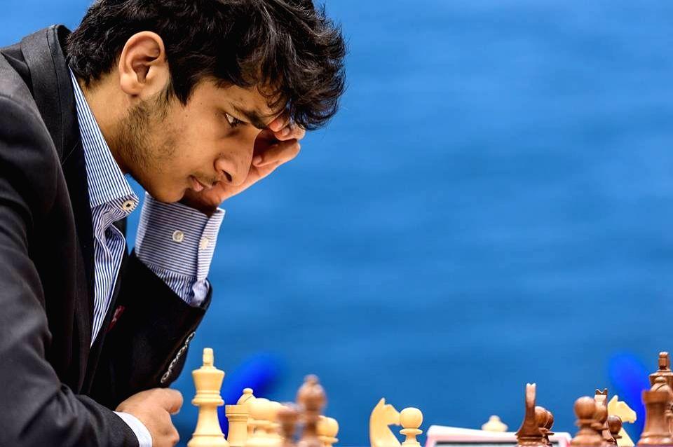 Indian Grandmaster Vidit Gujrathi .