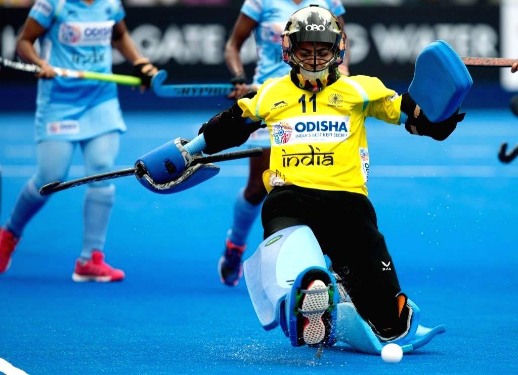 Indian Women's Hockey team Vice-Captain and Goalkeeper Savita.