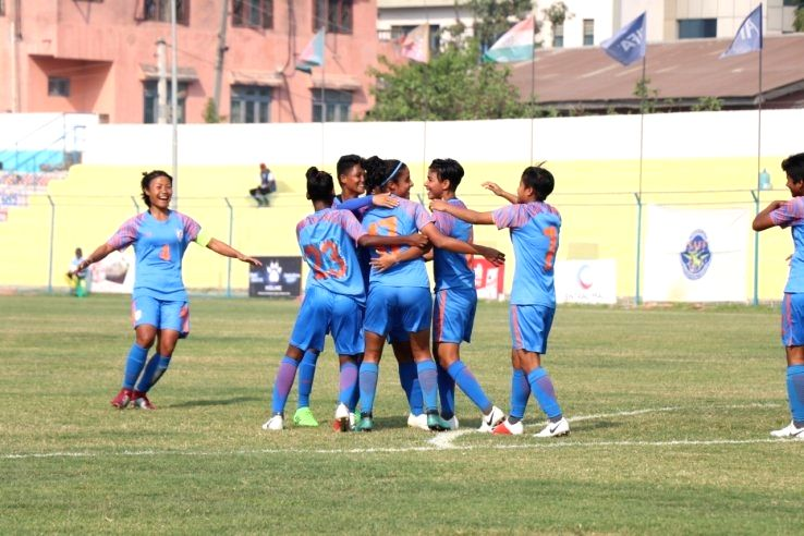 Indian Women's National Football team.