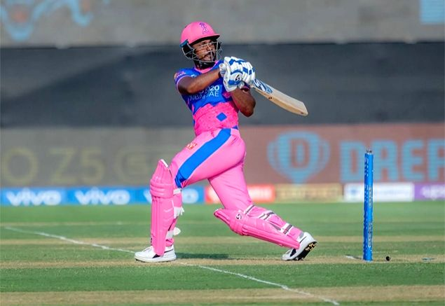 IPL 2021 Rajasthan captain Samson fined INR 24 lakhs for slow over-rate. (Credit:  IPL Twitter Not for commercial use)