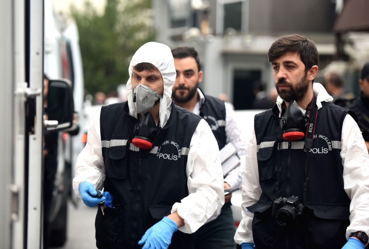 :ISTANBUL, Oct. 17, 2018Turkish police prepare to search the Saudi Arabia's Consul General's residence in Istanbul, Turkey, on Oct. 17, 2018. A Turkish team on Wednesday ...