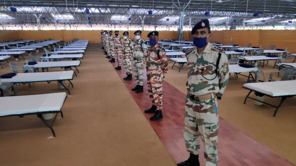 ITBP takes over Radha swami beas for covid facility in Delhi. (Photo Courtesy: ITBP)