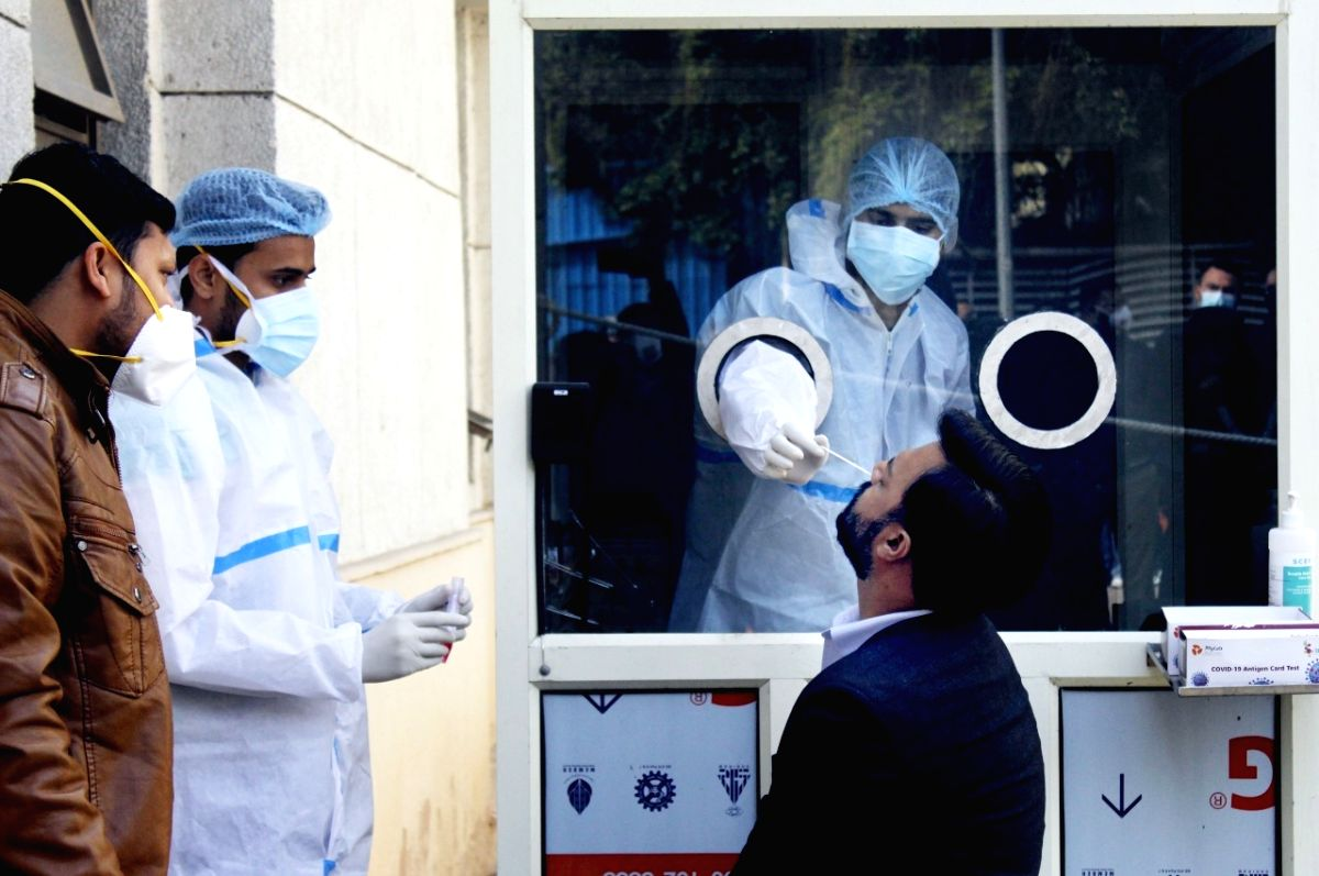 ITPC test for covid-19 at Rajiv Gandhi Hospital in New Delhi on Tuesday 12 January 2021   (Photo: Qamar sibtain/IANS)