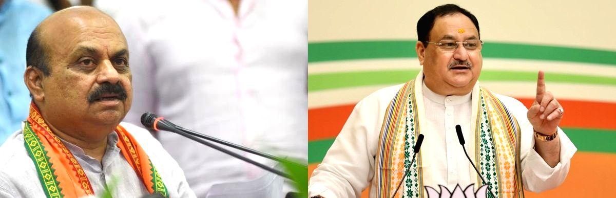 J.P. Nadda and Basavaraj Bommai.