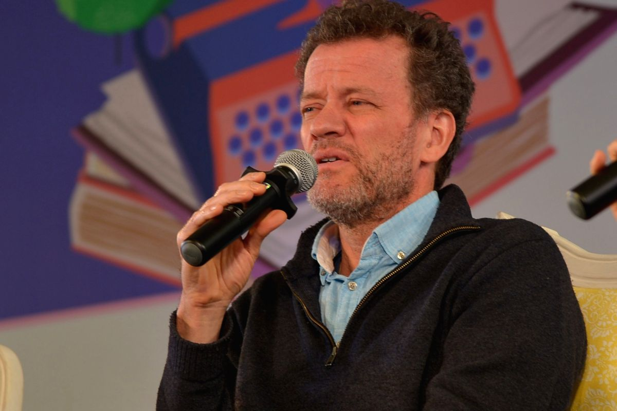 Jaipur: Canadian-Spanish author Yann Martel addresses at the 12th Jaipur Literature Festival, on Jan 27, 2019. (Photo: Shaukat Ahmed/IANS)