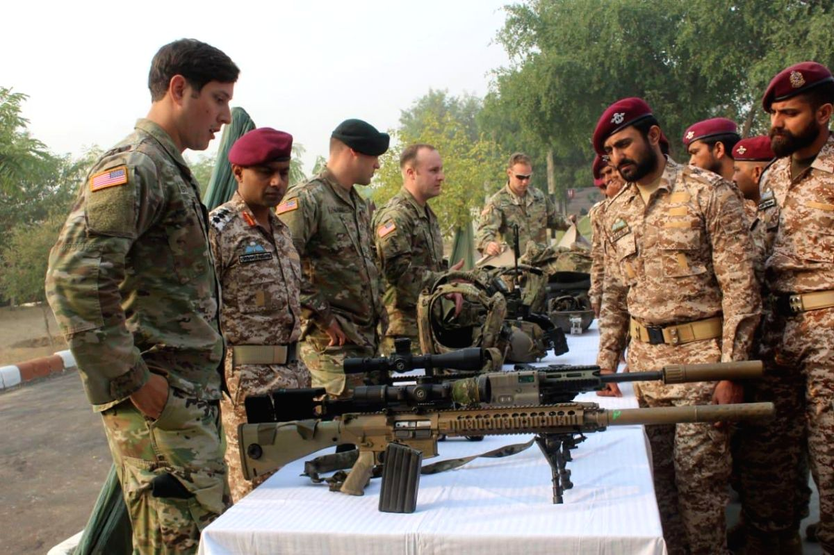 Jaipur: The Indian and US special forces personnel during the 12-day joint military drill 'Vajra Prahar' in Jaipur.