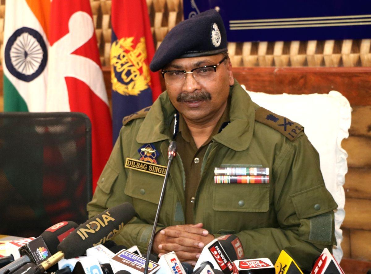 Jammu and Kashmir Director General of Police Dilbag Singh.