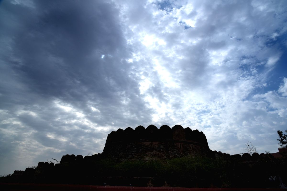 Silhouette of Junagarh Fort in Bikaner.