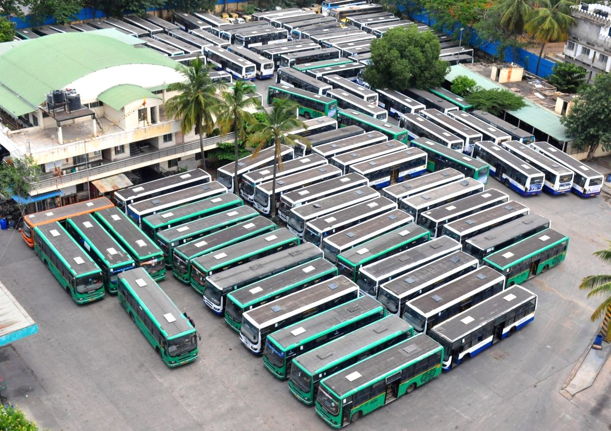 K'taka: Public transport services to operate with 50% capacity from Monday.