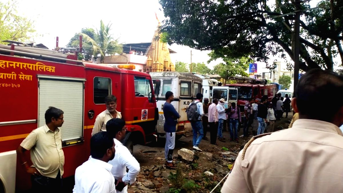 :Kalyan: Rescue operation underway after five persons including three cleaners and two firemen who went on a rescue mission drowned after they got stuck in accumulated sludge in a well at Kalyan in ...