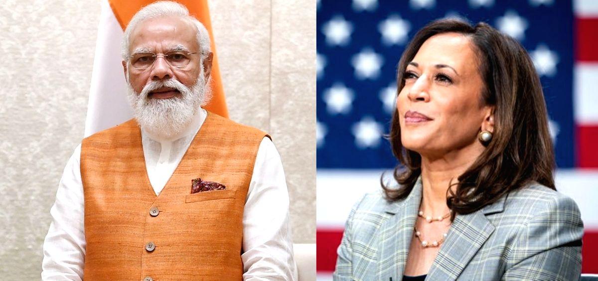 Kamala Harris and Modi.