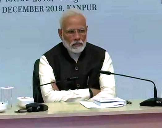 Kanpur: Prime Minister Narendra Modi presides over the first National Ganga Council meeting where he also reviewed the 'Namami Gange' project and its first hand experience of the impact of the programme on the holy river, in Kanpur on Dec 14, 2019. (