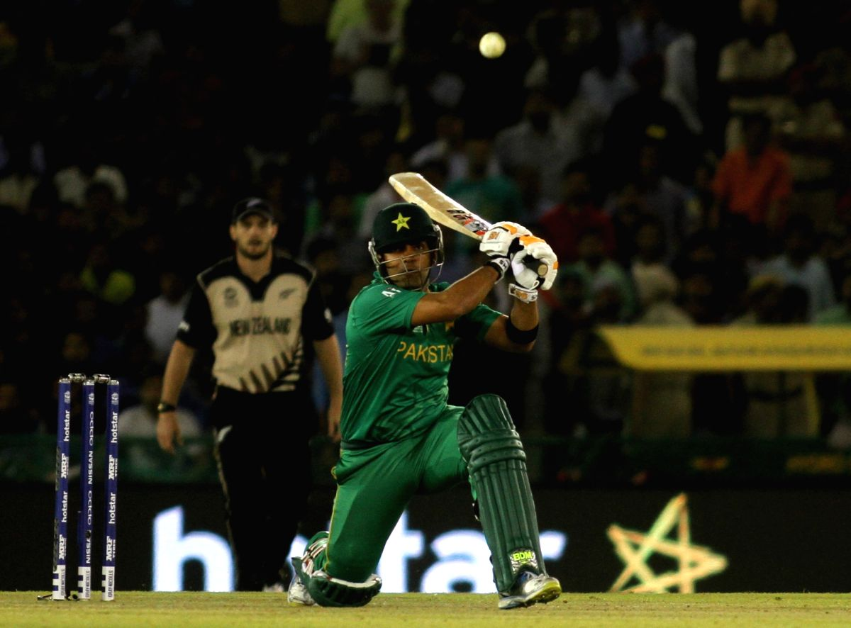 Karachi, April 27 (IANS) The Pakistan Cricket Board has banned Umar Akmal from all forms of the game for three years on corruption charges.(File Photo: Surjeet Yadav/IANS)