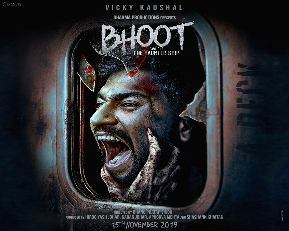 "Karan Johar shared the film's first poster ""Bhoot: Part One - The Haunted Ship""."
