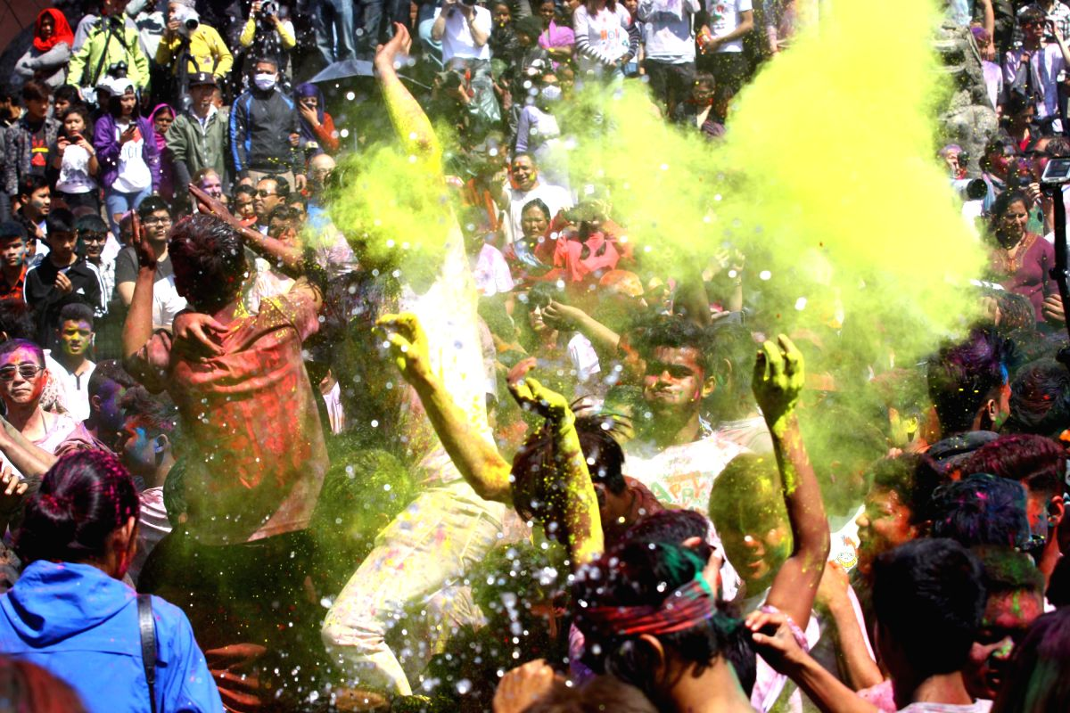 Holi celebration from Kathmandu