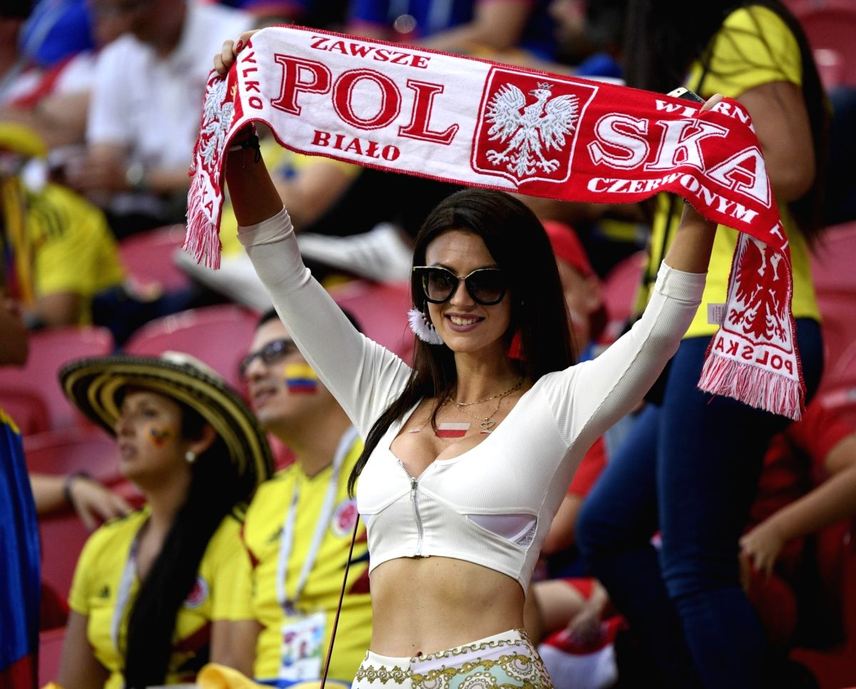 Polish supporters turn the heat up a notch in the stadium