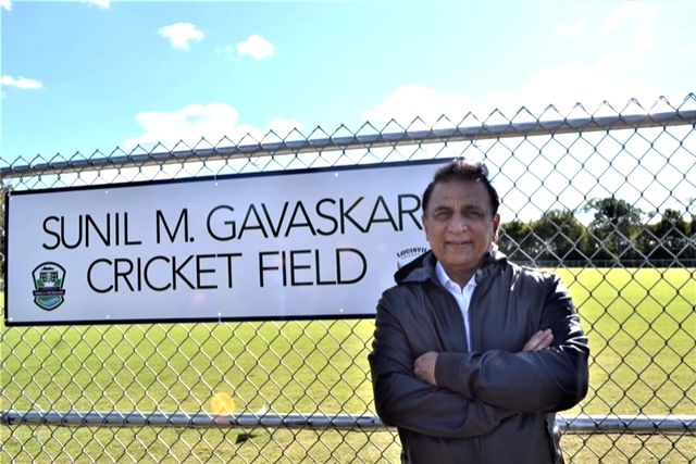 Kentucky: Cricket legend Sunil Gavaskar during the inauguration of a cricket field in Louisville, Kentucky on Oct 26, 2017. The Sunil Gavaskar field will become the first facility outside India to be named after an Indian player.