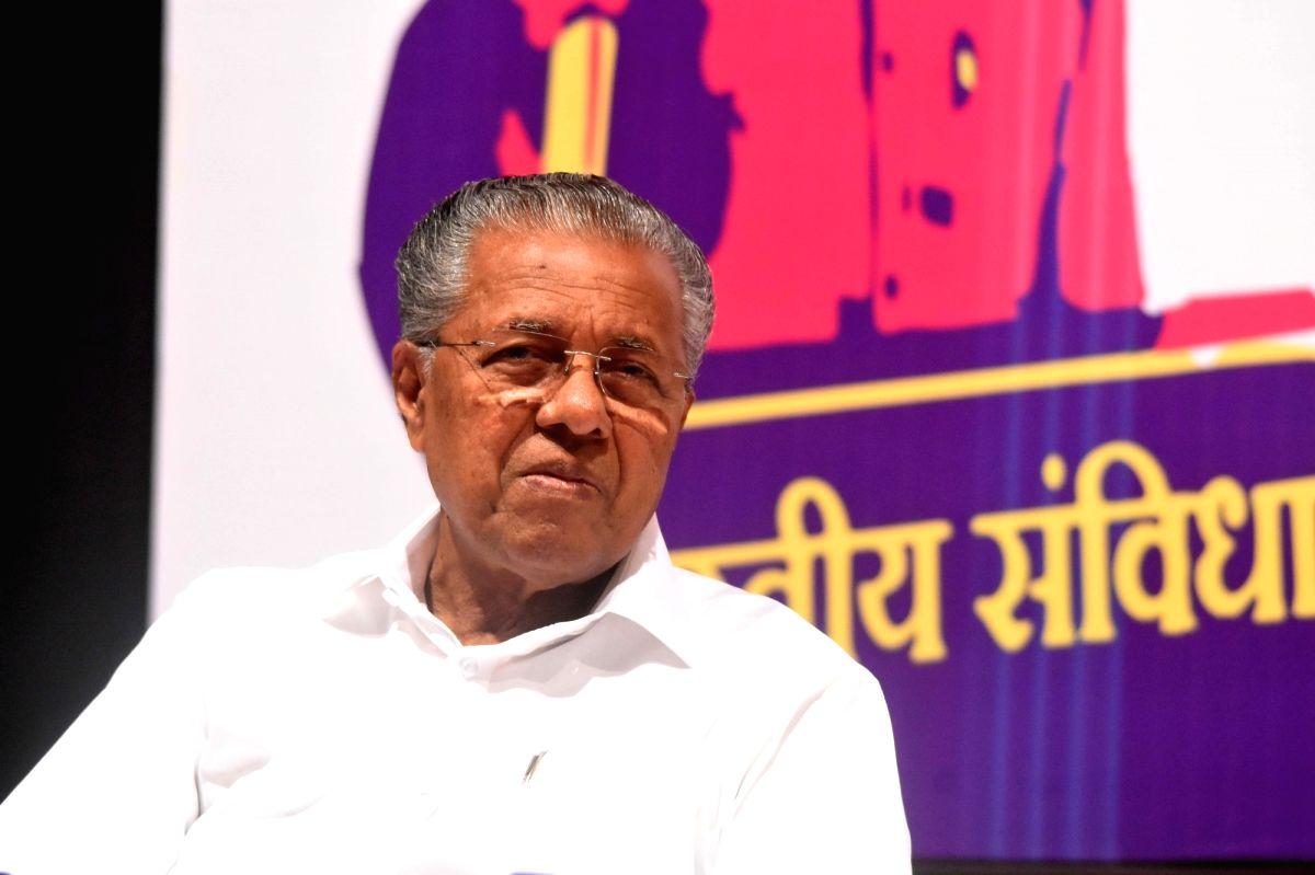 Mumbai: Kerala Chief Minister Pinarayi Vijayan ats 'Mumbai Collective', in Mumbai on Feb 2, 2020.