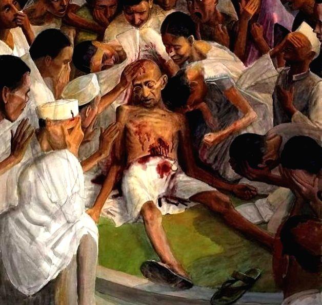 Kerala govt prints Gandhi killing illustrations on Budget copy.