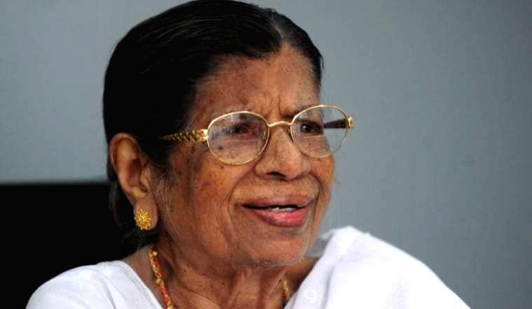 Kerala 'Iron Lady' in politics K.R.Gowri passes away.