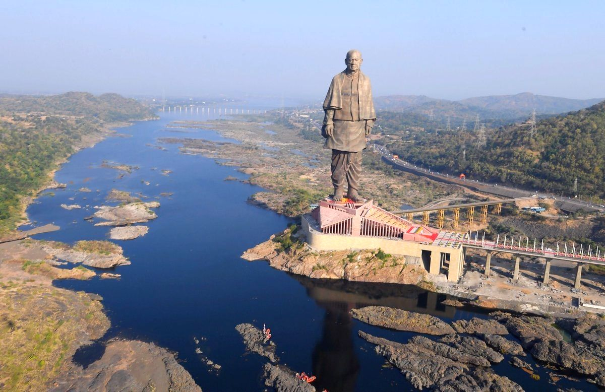 The 'Statue of Unity' that was unveiled by Prime Minister Narendra Modi in honour of country's first Home Minister Sardar Vallabhbhai Patel in Kevadia, Gujarat
