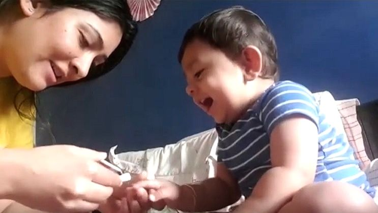 KGF' star Yash's toddler son giggles during nail trim from mom Radhika; video goes viral .