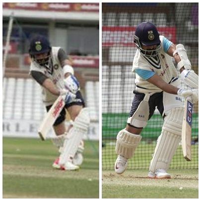 Kohli, Rahane back to training on centre wicket after missing warm-up(Photo:BCCI)