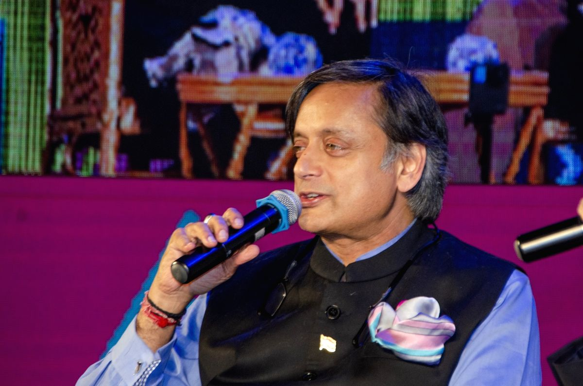Kolkata: Congress leader and author Shashi Tharoor during Apeejay Kolkata Literary Festival in Kolkata on Jan 18, 2019.