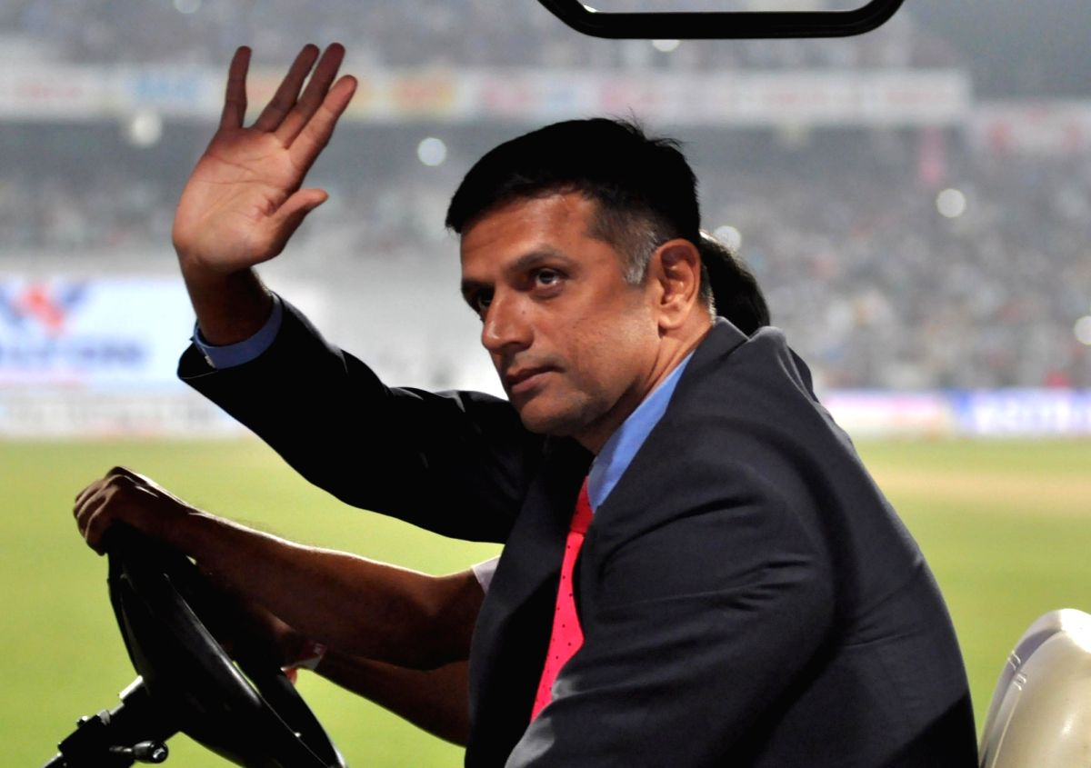 kolkata: Former Indian cricketer Rahul Dravid takes a tour of the Eden Gardens during tea break on Day 1 of the 2nd Test match between India and Bangladesh in Kolkata on Nov 22, 2019. This is India and Bangladesh's first pink ball Day-Night Test matc