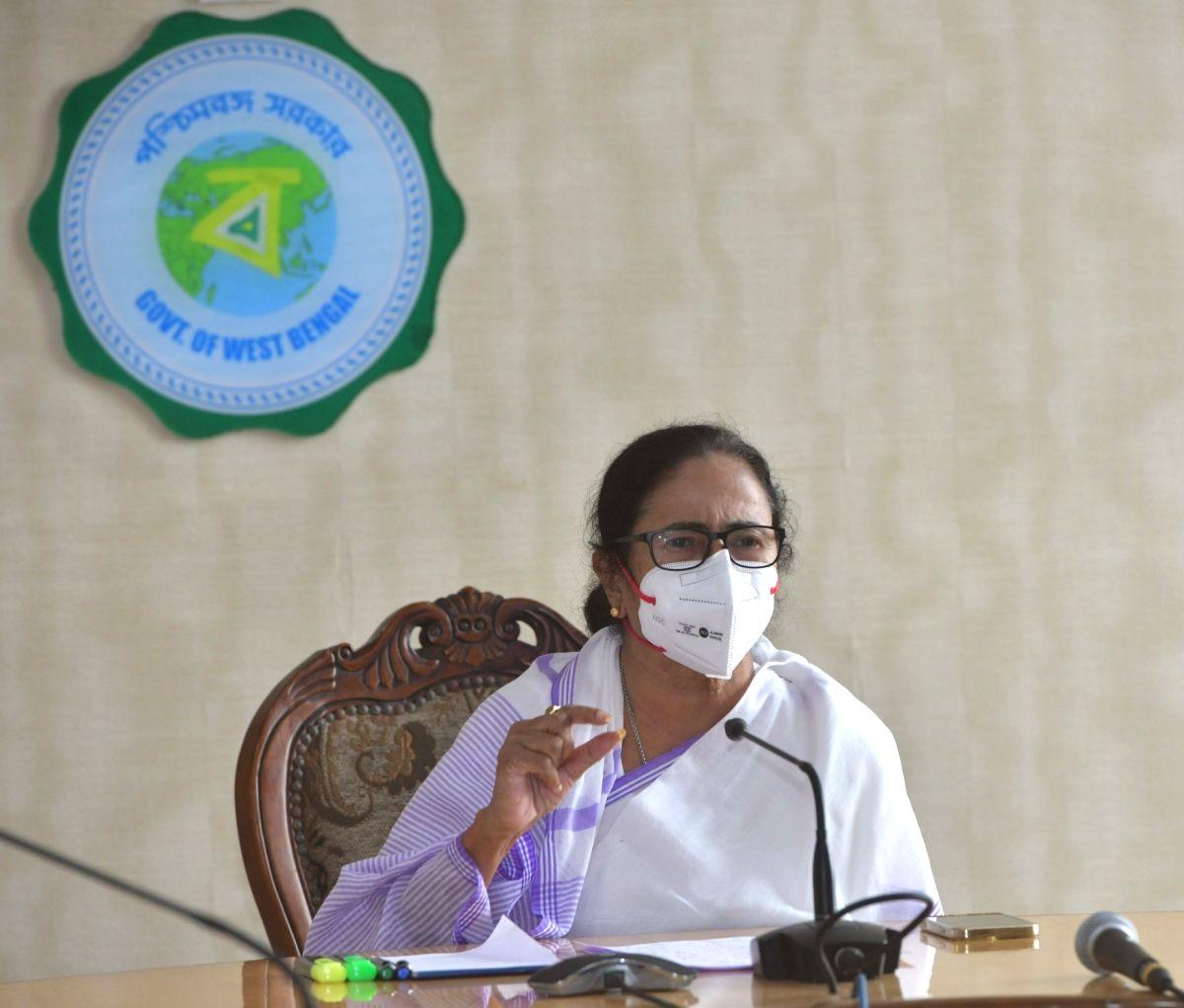 Kolkata: West Bengal Chief Minister Mamata Banerjee at a Press Conference increasing numbers of COVID 19 cases at Nabanna in Howrah on May 6, 2021.