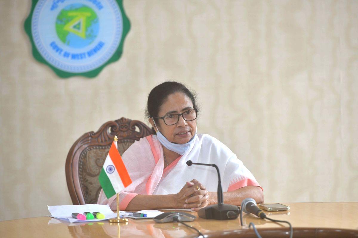 Kolkata: West Bengal Chief Minister Mamata Banerjee at a press conference at Nabanna Howrah in Kolkata on Thursday, July 22, 2021. (Photo:  IANS)