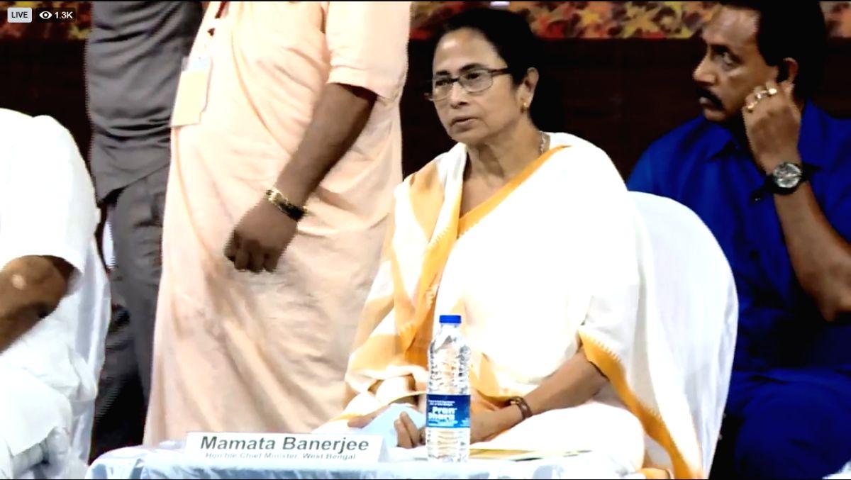 Kolkata: West Bengal Chief Minister Mamata Banerjee during inauguration of Sri Chaitanya Mahaprabhu Museum in Kolkata on Aug 13, 2019.