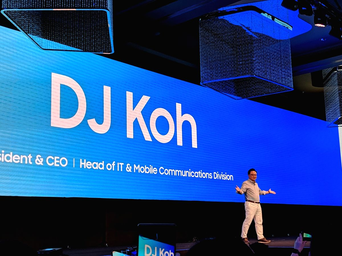 Kuala Lumpur: Samsung Electronics President and CEO (IT and Mobile Communications Division) DJ Koh at the launch of Samsung Galaxy A9 smartphone, in Kuala Lumpur, Malaysia on Oct 11, 2018.