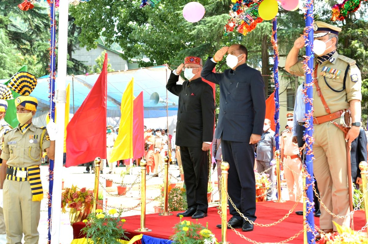 Kullu (HP), Aug 15 (IANS) The 74th Independence Day was celebrated with enthusiasm and gaiety by maintaining social distancing throughout Himachal Pradesh amid the Covid-19 pandemic on Saturday.