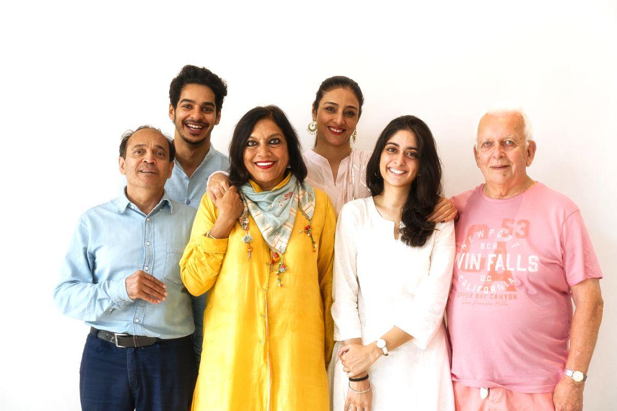 (L-R) Vikram Seth, Ishaan Khatter, Mira Nair, Tabu, Tanya Maniktala, Andrew Davies.