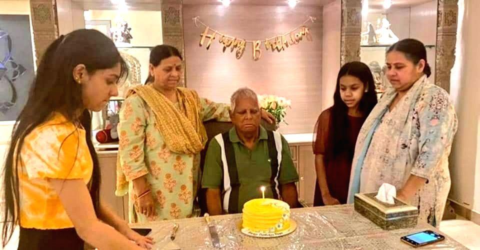 Lalu celebrates 74th birthday in Delhi, daughter Misa shares photo