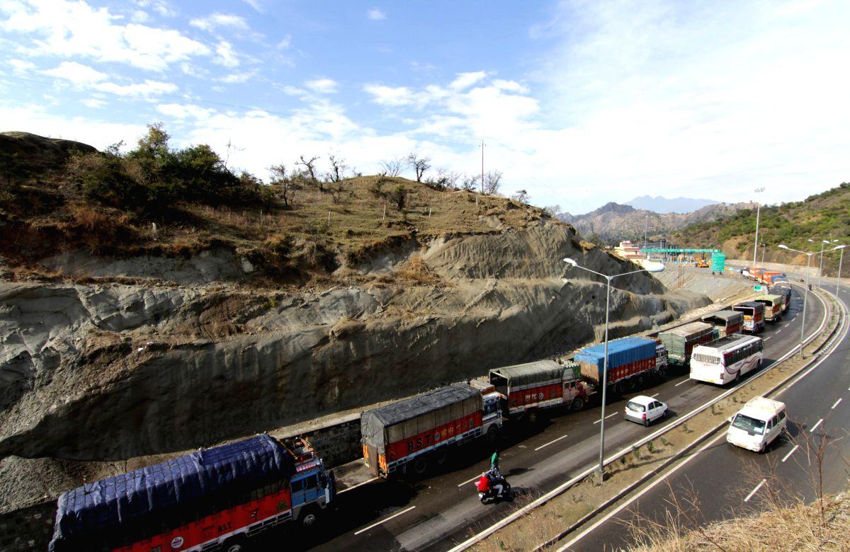 Landslide blocks Jammu-Srinagar highway.
