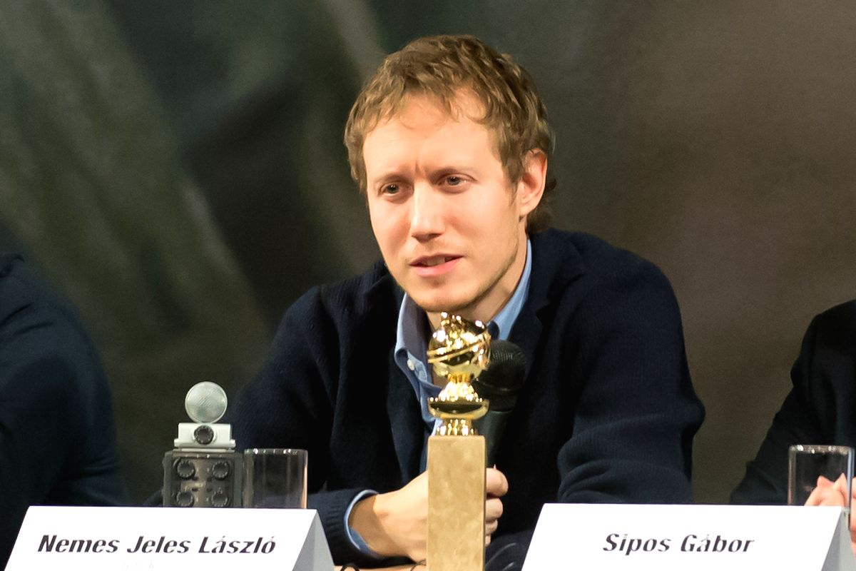 """Laszlo Nemes Jeles, Hungarian film director of """"Son of Saul"""", attends a press conference in Budapest, Hungary on Jan. 14, 2016. """"Son of Saul"""" ..."""