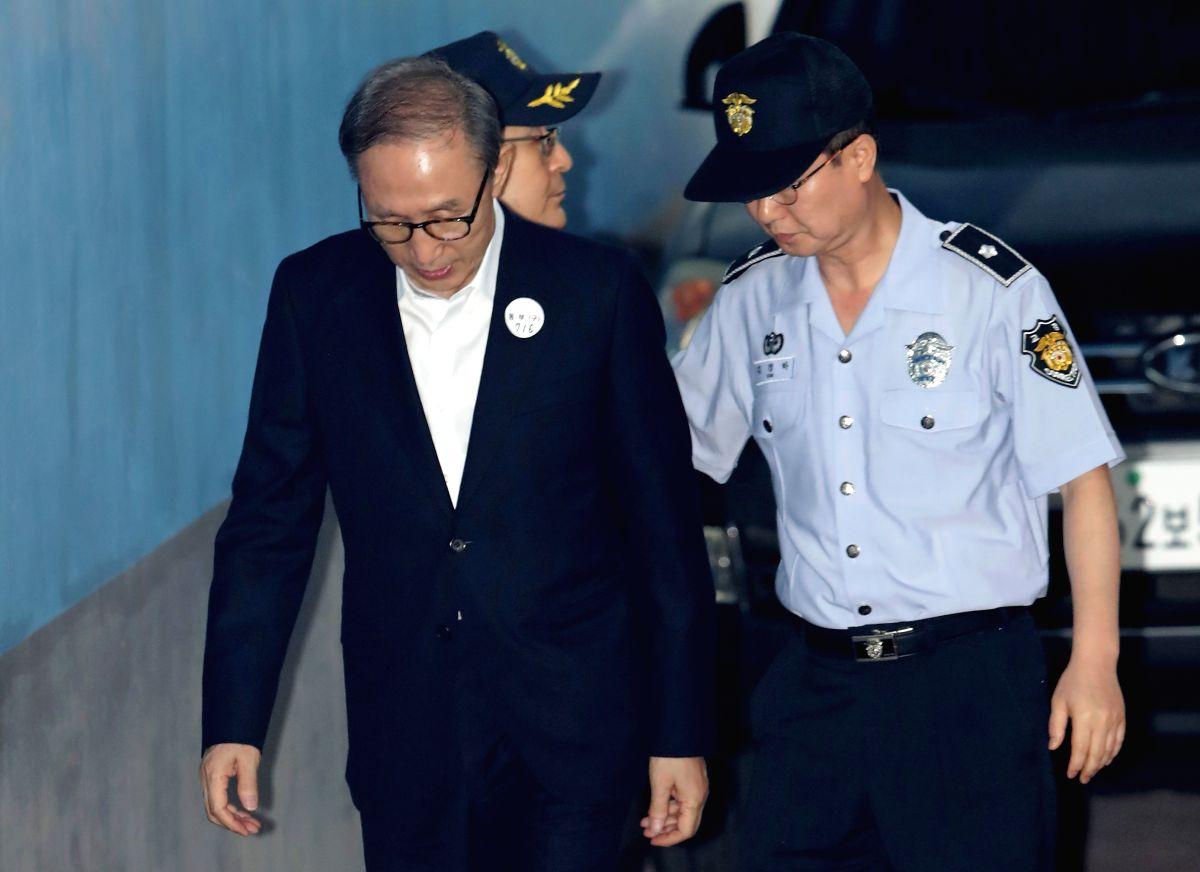 Lee Myung-bak. (Xinhua/Lee Sang-ho/IANS)