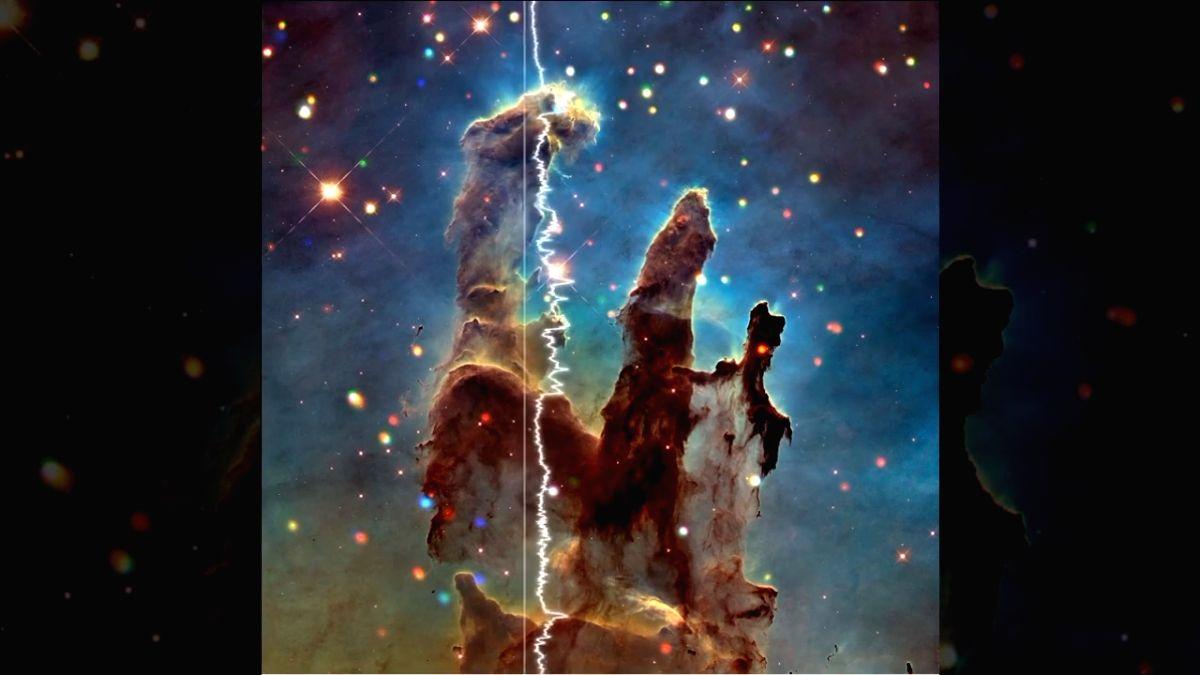 Listen to centre of Milky Way, 'Pillars of Creation'.