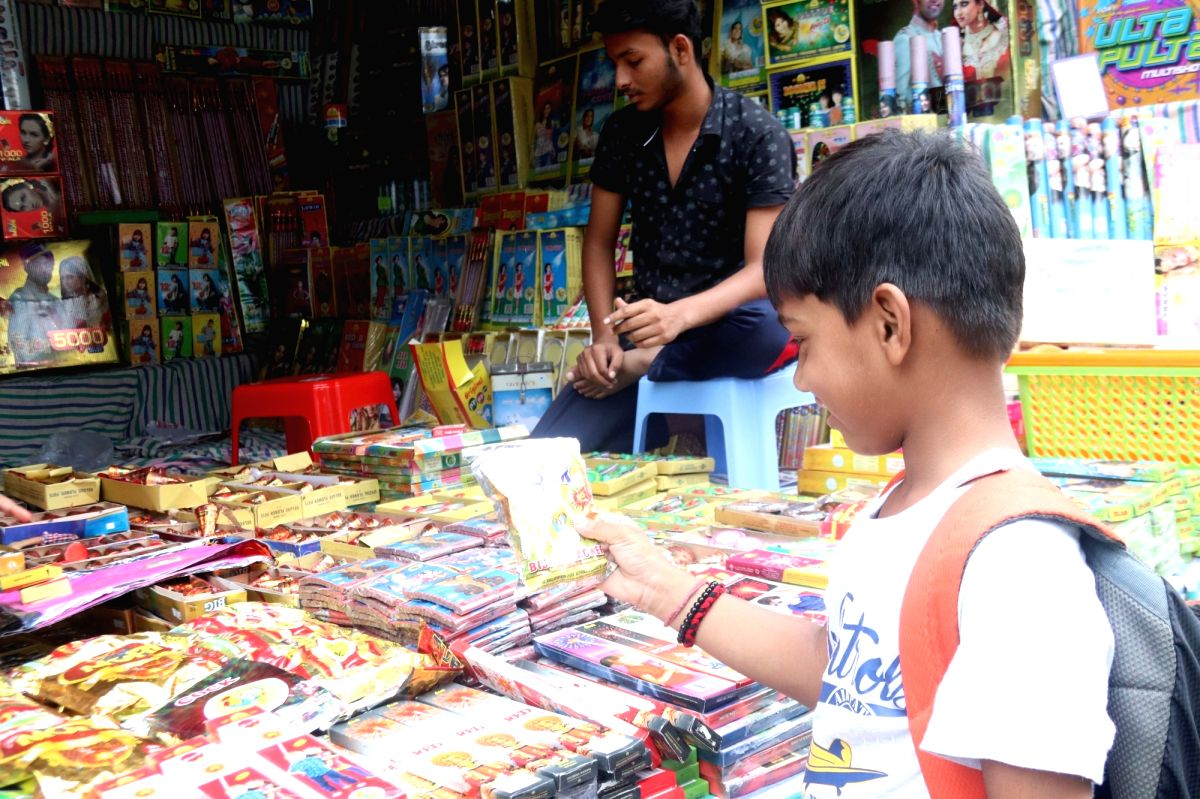 Low demand for firecrackers ahead of Diwali worries traders