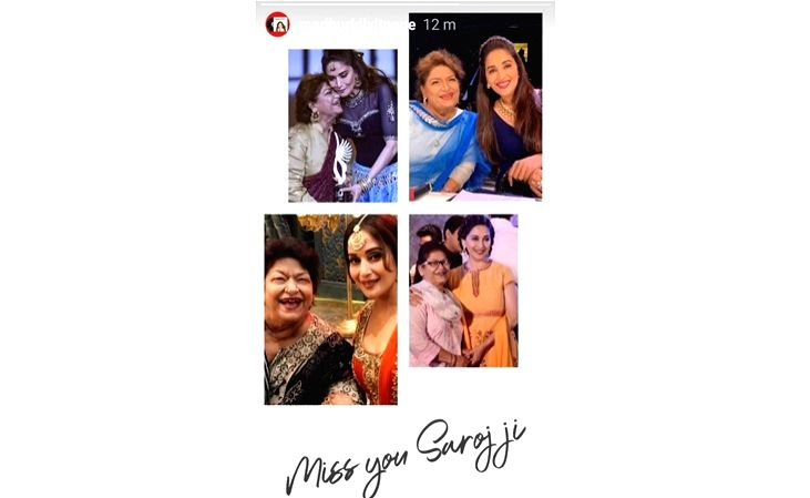 Madhuri Dixit on Saroj Khan's demise: Devastated by the loss of my friend and guru.