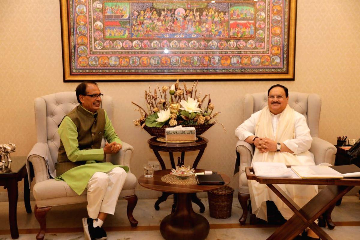 Madhya Pradesh Chief Minister Shivraj Singh Chouhan meets BJP National President JP Nadda in Delhi