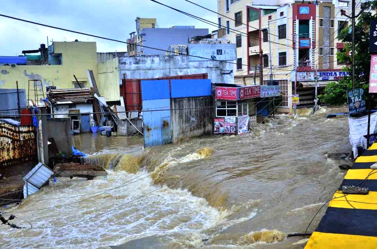 Many colonies in rain battered Hyderabad remain underwater.
